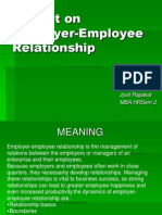 Project on Employer-Employee Relationship Wd Graphs.dateD 10 APRIL