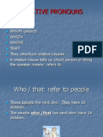 Relatives Pronouns Ppt