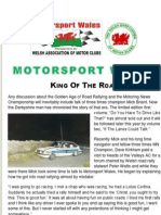 Motorsport Wales Newsletter