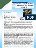 LFP Moldova alumnus of the mont of April Lazari Alezei Profile
