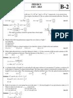 CET-2013 Physics QP Ans