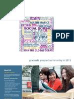 Graduate Prospectus 2013