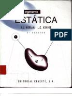 Mecanica para Ingenieros, Estatica (J.L Meriam) - 3° Edición