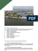 Die 10 längsten Flüsse in Deutschland