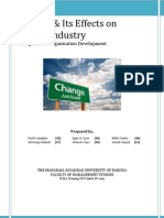 Change and Its Effect on Indian Industries
