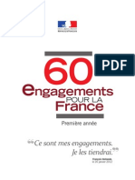 60 engagements pour la France de François Hollande