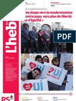 Hebdo n°693 - « Une étape vers la modernisation de notre pays, vers plus de liberté, plus d'égalité »