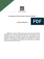 Pietroforte Stefania - Una Lettera Di Bruno Nardi a Gentile
