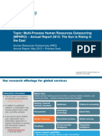 Multi-Process Human Resources Outsourcing (MPHRO) - Annual Report 2013