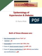 Epidemiology of Hypertension & Diabetes