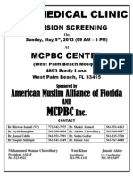 Free Medical Clinic Vision and Screening