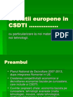 Evolutii Europene in CSDTI