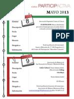 Agenda Participactiva Mes de Mayo 2013