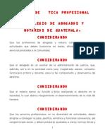 CÓDIGO DE ÉTICA PROFESIONAL DEL COLEGIO DE ABOGADOS Y NOTARIOS GUATEMALA