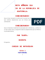 CODIGO DE NOTARIADO DECRETO 314