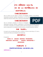 ARANCEL DE ABOGADOS decreto 111-96