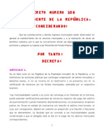 DECRETO NUMERO 108 GUATEMALA
