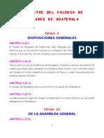 Estatutos Del Colegio de Abogados DE GUATEMALA