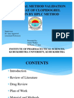 Analytical method validation of clopidogrel tablets br HPLC
