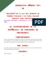 to de La Ley de Impuesto de Timbres Fiscales ACUERDO GUBERNATIVO 737-92