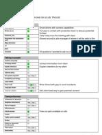 Recce Checklist