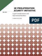 The Proliferation Security Initiative