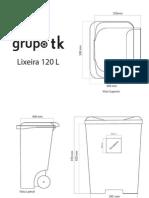 Desenhos Tecnicos Lixeira 120 l