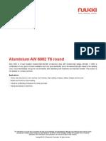 Aluminium AW 6082 T6 Round