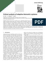 1 Critical Analysis Od Adaptive Biometric Sm