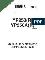 Yamaha Majesty Manuale Officina 2003 YP250