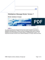 WMB7 Migration Broker Database Changes