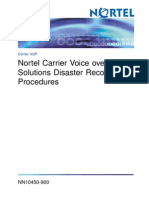 CVoIP Solutions Disaster Recovery Procedures-SN10-NN10450-900_06.02
