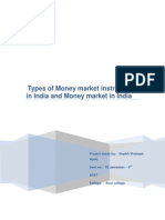 Types of Money Market Instruments in India and Money Market in India5 Th Semester