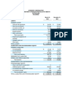 Q1 2013 Earnings Condensed Consolidated Metrics