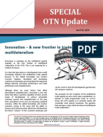 OTN Special Update _Innovation - A New Frontier in Trade Multilateralism_ 2013-04-25