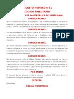 CÓDIGO TRIBUTARIO DECRETO 6-91