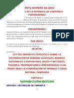 Ley Del Impuesto Sobre Distribucion de Bebidas Gaseosas DECRETO 09-2002