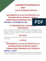 to a La Ley de Impuesto a La Distribucion de Petroleo AG 663-2005