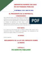 REGLAMENTO DEL ISR AG 206-2004