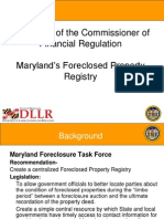 Maryland's Foreclosed Property Registry-PPT