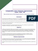 Comparativo Entre Sistemas Operacionais
