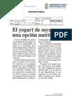 Informe de prensa semana del 26 de abril al 03 de mayo de 2013