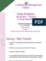 Group 3_Vanraj Mini–Tractors