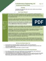 Human Performance Engineering - Performance Partner Guide