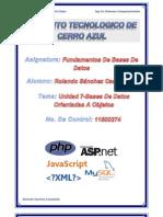 Unidad 7 Bases De Datos Orientadas A Objetos.docx