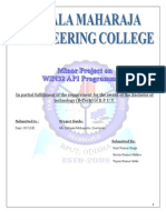 Documentation of WIN32 Minor Project