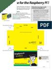 Raspberry Pi paper case template