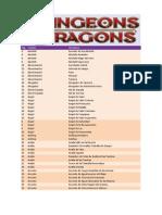 Listado de Monstruos D&D 4.0(1)