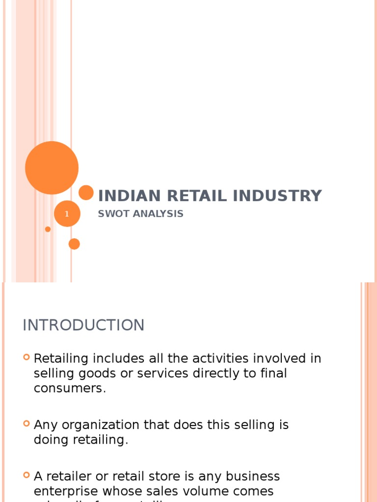 swot analysis of retail industry