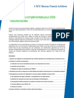 Loi de Finances Comp 2009